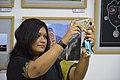 Visitor Takes Selfie At Inaugural Day - 45th PAD Group Exhibition - Kolkata 2019-06-01 1594.jpg