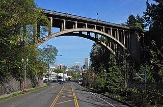 Vista Bridge bridge in Portland, Oregon, USA