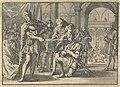 Vrees van Jacobus I, koning van Engeland, voor een zwaard bij het ridderen van Kenelm Digby, ca. 1623, RP-P-1896-A-19368-1370.jpg