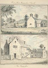 Fron Ynys & Llangwyfan Church ; Plas Llangwyfan