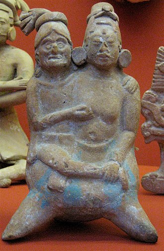 Goddess I - Woman embraced by old man, ocarina, Los Angeles County Museum of Art