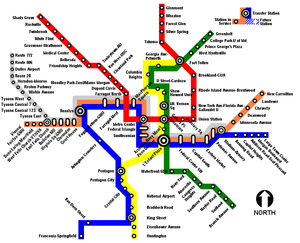 Metro system map showing the Silver Line