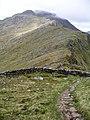 Wall and ridge, Sgurr Choire nan Eiricheallach - geograph.org.uk - 187547.jpg