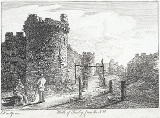 Walls of Tenby from the N.W