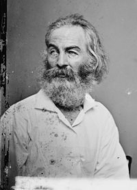 Walt Whitman, circa 1860, by Mathew Brady