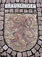 Wappenmosaik der Zähringerstadt Bräunlingen auf dem Bertoldplatz in St. Peter.jpg