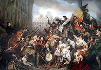 История Бельгии 200px-Wappers_belgian_revolution