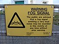 Warning Notice at fog signal station - geograph.org.uk - 1020070.jpg