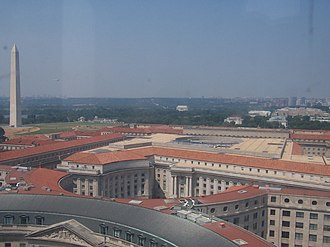 Kennan Institute - The Kennan Institute and the Ronald Reagan Building are in the middle of the image