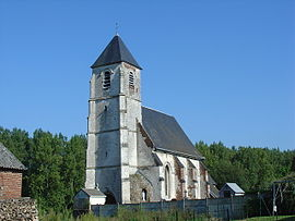 The church of Wavrans-sur-Ternoise