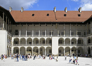 Wawel - The tiered arcades of Sigismund I Stary's Renaissance courtyard within Wawel Castle
