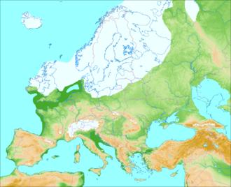 Förden and East Jutland Fjorde - Image: Weichsel Würm Glaciation