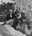 Welhaven, Heftye, Fladager og Lassen på Frognæs OB.NW4585.jpg