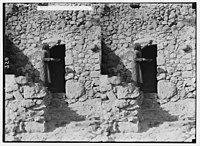 Weli of Budrieh at Sherafat and the preparing of a sacrifice. Smearing the blood of the sacrifice over the doorpost. LOC matpc.01418.jpg