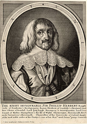 Philip Herbert, 4th Earl of Pembroke - A 1642 engraving of Pembroke by Wenceslas Hollar after a 1634 painting of Anthony van Dyck
