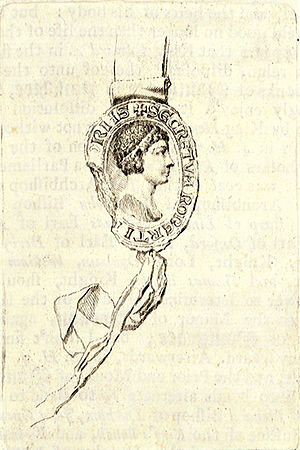 Earl Ferrers - Seal of Robert, Earl Ferrers on etching by Wenceslaus Hollar