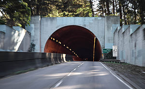 Douglas MacArthur - West entrance of the MacArthur Tunnel in San Francisco, California