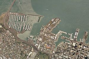 Westhaven Marina - The marina at the west of the Auckland waterfront.