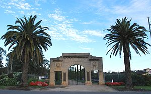 White Hills, Victoria - War memorial entry to the Botanical Gardens
