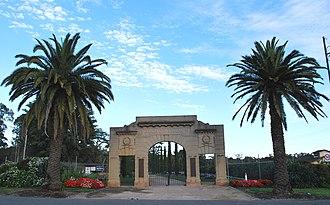White Hills, Victoria - War memorial entry to the Botanical Gardens