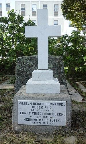 Wilhelm Bleek - Wilhelm Bleek's grave, Wynberg Cemetery, Cape Town