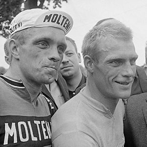Rudi Altig - Altig (right) with his brother Willi in 1966