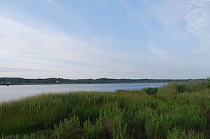 English: Winnapaug Pond in Westerly, Rhode Island