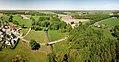 Wittichenau Kotten river mouth Klosterwasser in Schwarze Elster Aerial Pan.jpg