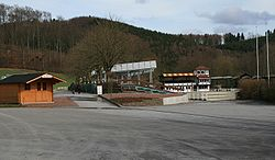The jumping course in Balve