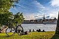 Woman relaxing at Skeppsholmen, Stockholm - panoramio (cropped).jpg