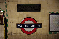 WoodGreen - Roundel on eastbound platform before (4571279226).jpg