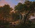 Wood landscape with animals, by Eugène Verboeckhoven.jpg