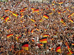The 2006 World Cup saw an unprecedented widespread public display of the national flag in the Federal Republic of Germany.