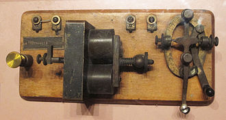 Telegraph key - a Wright Brothers telegraph key (missing its knob)