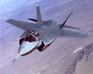 Lockheed Martin X-35 - The X-35A JSF performs flight tests at Edwards Air Force Base, California