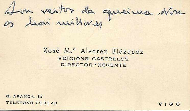 Xosé M.ª Álvarez Blázquez, Edicións Castrelos, director-xerente, Vigo
