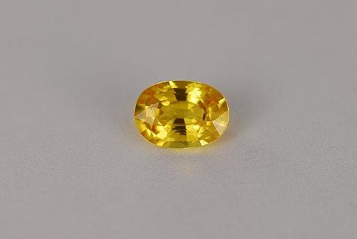 Yellow sapphire oval gemstone