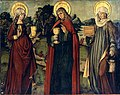 Zürcher Veilchenmeister Altarflügel c1505 Innenseite Heilige.jpg