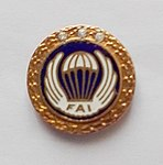 Złota Odznaka Skoczka Spadochronowego z 3. diamentami FAI.jpg