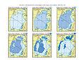 Zbiór map porównawczych prezentujących zmiany zasięgu Jeziora Aralskiego w latach 1960 - 2009..JPG