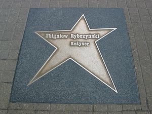 Zbigniew Rybczyński - star on the Lodz walk of fame