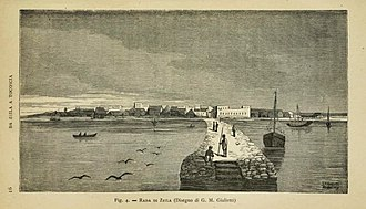 Zeila - Zeila waterfront in 1877, by an Italian visitor