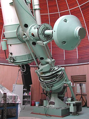 Telescope mount - 1 meter Zeiss telescope at Merate Astronomical Observatory, Merate (LC), Italy. (South support)