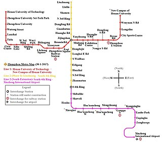 rapid transit metro rail network in Zhengzhou, Henan, China