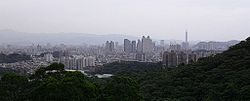 Zhonghe District, with Taipei 101 in the background