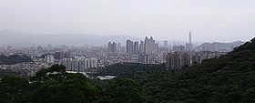 Zhonghe City, with Taipei 101 in the background