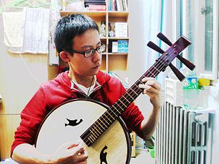 Zhongruan Chinese plucked string instrument