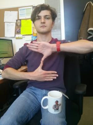 Zoltan (hand gesture) - Example of hand gesture