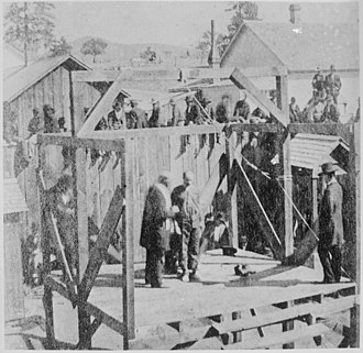 "12th Infantry Regiment (United States) - Image: ""Execution of a soldier of the 8th Infantry at Prescott, Arizona, 1877."" NARA 530921"