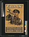"""Fall in"" Answer now in your country's hour of need LCCN2003668196.jpg"
